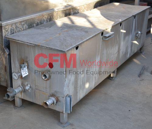 240 gallon stainless steel rectangular tank