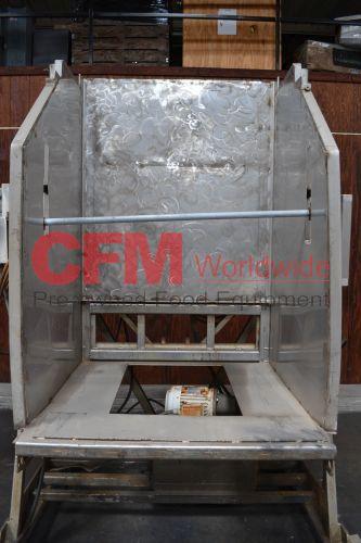 MTC stainless steel hydraulic bin dumper